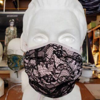 Black Chantilly Lace Mask